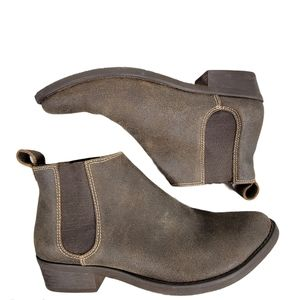 Chocolat Blu Leather rubber Ankle Elastic Booties
